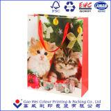 Bolso de compras de papel barato de la Navidad del fabricante profesional