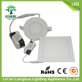 3W 6W 9W Round Square Shaped Aluminum LED Panel Lamp Lighting、LED Panel