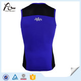 Usage en nylon de gymnastique de gilet de gymnastique d'hommes de compression de Spandex
