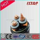 3.6/6kv中型の電圧ケーブル3のコアかマルチコアXLPEの絶縁体力の銅ケーブル
