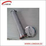 Sanitaria tubos de acero inoxidable soldada a tope de montaje del filtro de ángulo