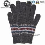 Señora caliente Fashion Jacquard Acrylic Glove del invierno de la manera