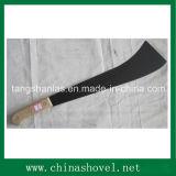 Machete-Kohlenstoffstahl-Zuckerrohr-Machete mit hölzernem Griff