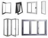 Double porte en aluminium en verre pour la porte coulissante faisante le coin
