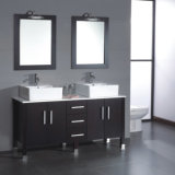 Fabrik-direkt AcrylmarmorEdelstahl-Oberseiten-Badezimmer-Möbel