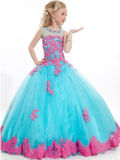 Festzug-Partei-Kleidersequins-Blumen-Mädchen-Kleider des Mädchens (Fl2015)