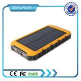 Carregador de bateria USB duplo Backup externo Banco de energia solar portátil 10000mAh Banco de energia para celular