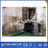 Máquina de revestimento do vácuo das ferragens do ouro do estanho de Hcvac, máquina de revestimento do metal PVD