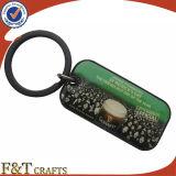 Trousseau de clés fait sur commande de photo en métal fabriqué à la main promotionnel en gros (FTKC1764A)