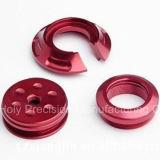 Parte di giro anodizzata rossa personalizzata di CNC dell'alluminio