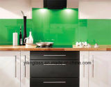 Vidro Tempered da placa do respingo com cor verde branca do azul etc.