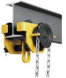 Polea manual, carretilla engranada para el uso del bloque de cadena