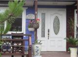 Fangdaの木の穀物は外部の二重ガラス繊維のドアに類似した飾った
