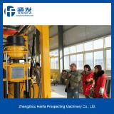 Plataforma de perforación móvil del receptor de papel de agua, plataforma de perforación portable modelo de la exploración de mina Hf-3