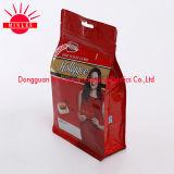 Poche de gousset de fond plat/sachet en plastique comique poche inférieure carrée de gousset pour le café, casse-croûte, nourriture