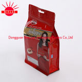 Flache Unterseiten-Stützblech-Beutel/quadratischer unterer Stützblech-Beutel-Fastfood- Plastiktasche für Kaffee, Imbiß, Nahrung