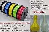 Qualität Winkel des Leistungshebels mögen Silk Plastik-zusammengesetzte Heizfäden für Drucker 3D