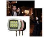 iPhoneの携帯電話のiPadの再充電可能な懐中電燈16LED Selfieの射撃の盛り土ライトのためのアンドロイド