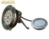 Cer 24V anerkanntes Unterwasserlicht des RGB-Swimmingpool-IP68 des Edelstahl-LED