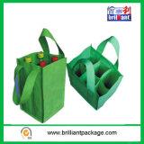 Sacos não tecidos reusáveis baratos do frasco com saco do punho