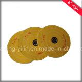 Pieles de ante de pulido 100% de la alta rueda final del acabamiento del almacenador intermediario del paño de algodón de 5 pulgadas