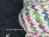 Шарф зимы Acrylic 100% теплый Космос-Покрашенный окаимленный связанный цветастый