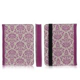 Neuf obtiennent la caisse de tablette de cuir de fleur de mode pour le cas d'iPad