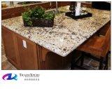 食器棚のための自然な石造りのタンブラウンの花こう岩のカウンタートップ