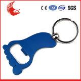Abridor de frasco Pé-Shaped personalizado Keychain
