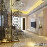 Экран нержавеющей стали Сингапур рассекателя комнаты конструировал отделку циновки цвета золота Rose панели стены