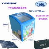 Congélateur en verre solaire de glace de réfrigérateur de porte du congélateur 12V24V48V de poitrine de C.C de Purswave Sr/Sf-168 168L actionné par le panneau solaire et la batterie -20degree