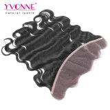 Pacotes brasileiros do cabelo da onda do corpo com Frontal do laço