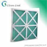 마분지 또는 Aluminum/Galvanized Frame Fiberglass Filter