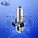 Sanitär Pneumatische Absperrklappe mit Positionssensor