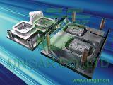El papel de aluminio sirve la maquinaria del envase
