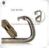 야영 옥외 합금 D 나사 자물쇠 강철 Carabiner