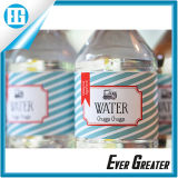 Liebes-Wasser-Flaschen-Kennsatz ist für das Hochzeitsfest geeignet