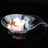 식기 플라스틱 디스크 처분할 수 있는 접시 쉼표 모양 접시