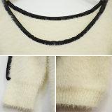 Maglione lavorato a maglia zona del cuoio di modo delle donne