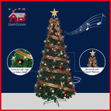 Star superiore Ornaments variopinto e Ribbon Decorated Christmas Tree