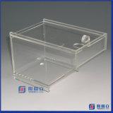 La caja de acrílico 5 del rectángulo echó a un lado cubo del acrílico de la caja de presentación