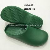 El jardín de EVA calza los zapatos de Sandle de los zapatos del jardín de la prueba del agua de la Bajo-Tapa (HX16-67)