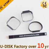 O silicone feito sob encomenda do logotipo ostenta USB Pendrive do Wristband/bracelete (YT-6301L)