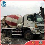 mezclador concreto usado 6X4 del carro del cemento de Hino 500