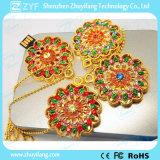Goldsun-Blumen-hängendes Schmucksachen USB-Blitz-Laufwerk (ZYF1914)