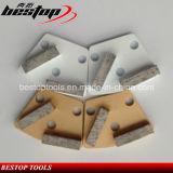 40X10X10mm 가는 세그먼트 금속 지면 구체적인 가는 패드