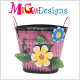 Plantador decorativo de la flor artificial del metal del ornamento del jardín
