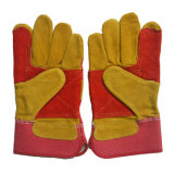 Gants fonctionnants industriels de cuir fendu de vache