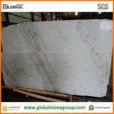 Natürlicher Volakas weißer Marmor für Küche-Inseloberseiten/Countertops