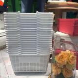 Двойная пластичная корзина для товаров пластмассы супермаркета ручки